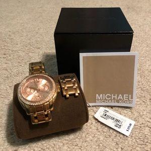 Michael Kors 14k rose gold watch